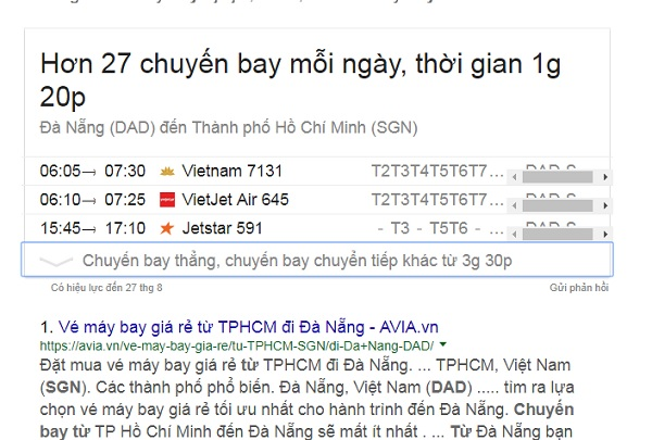 Đoạn Snippet Table
